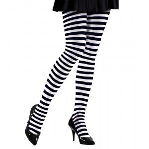 Calze Bianco Nere Accessori Costume Carnevale Donna PS 17196 Pelusciamo Store Marchirolo