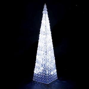 Piramide a led 90 cm.con cristalli acrilici
