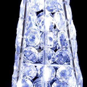 Piramide a led 60 cm.con cristalli acrilici