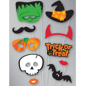 Photo set Halloween mascherine con supporto *01065 | pelusciamo store
