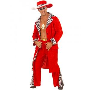 Costume Carnevale Adulto Pappone, Travestimento Magnaccio PS 19979