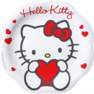 Piatto Teso Hello Kitty Cuore - Feste, Party