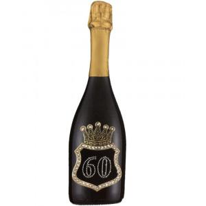 Bottiglia Di Prosecco Extra Dry 0.75 ML. Personalizzata 60 Anni PS 27278