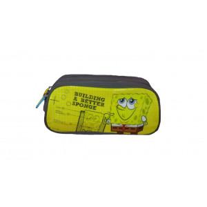 Astuccio Scuola 2 Cerniere Spongebob Nickelodeon *15976 | Pelusciamo.com