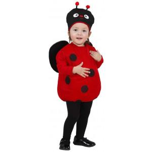 Costume Carnevale Bimbi Coccinella Rossonera  PS 25865 Pelusciamo Store Marchirolo