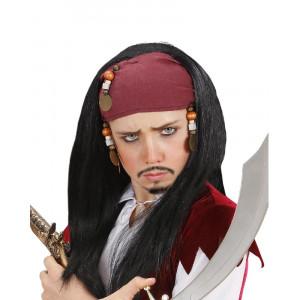 Parrucca Pirata Bandana e Perline, Carnevale Ragazzo PS 26414 pelusciamo store Marchirolo