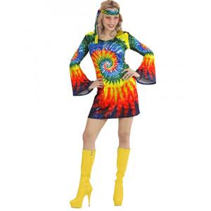Vestito Donna Psichedelico Anni 60, Costume Carnevale Hippie PS 26558 Pelusciamo store Marchirolo