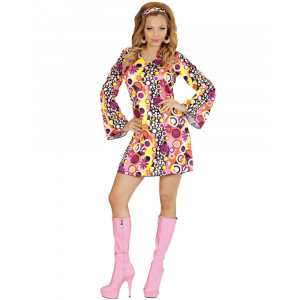 Vestito Donna Groovy Anni 60, Hippie Costume Carnevale PS 22937 Pelusciamo store Marchirolo
