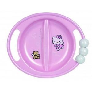 Piatto con alette Baby Hello Kitty pappa Prima Infanzia *06967