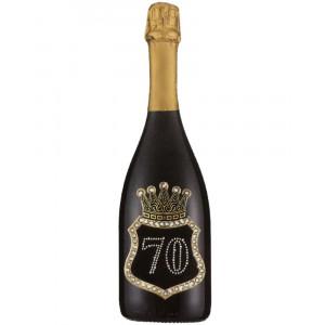 Bottiglia Di Prosecco Extra Dry 0.75 ML. Personalizzata 70 Anni PS 27279