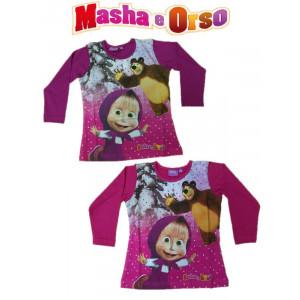 Maglietta a maniche Lunghe bimba Masha e l'orso Abbigliamento Bambina   Pelusciamo.com