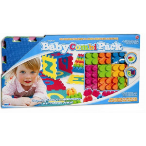 Giochi per bambini playset baby pack tappeto puzzle + mattoncini jumbo *00182 pelusciamo.com