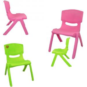 Sedia In Plastica Per Bambini Rosa Verde Multicolore PS 09984 Pelusciamo Store Marchirolo