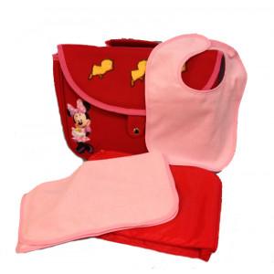 Set  Merenda Rosso Minnie Disney *16618 Accessori Asilo Bambina