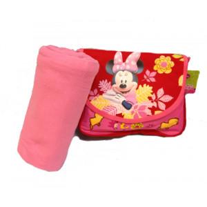 Set  Nanna Rosso Minnie Disney Asilo *16619 Plaid e Cartella
