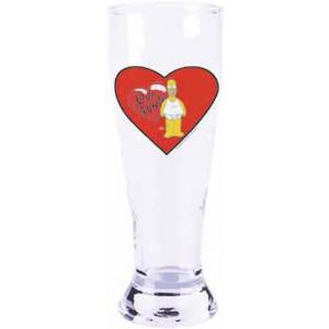 Bicchiere da Birra Simpson Love Hurts san valentino