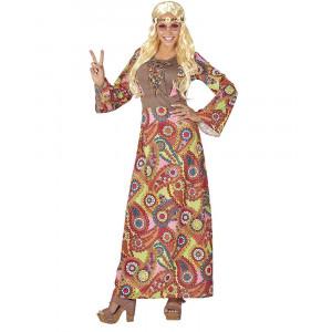 Costume Carnevale Donna Hippie Anni 60 PS 26128 Taglie Forti Pelusciamo Store Marchirolo