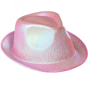 Cappello Fedora Rosa , One size Every Night Party Fashion PS 10031 Pelusciamo Store Marchirolo