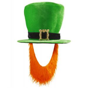 Cappello a Cilindro Con Barba St Patrick Day, Accessori Costume San Patrizio PS 05137 Pelusciamo Store Marchirolo