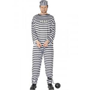 Costume Carnevale Adulto Carcerato Prigioniero