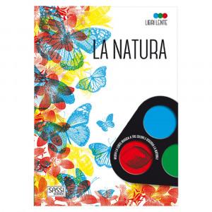 Libro educativo La Natura con lente PS 07090 Libri Educativi PELUSCIAMO STORE