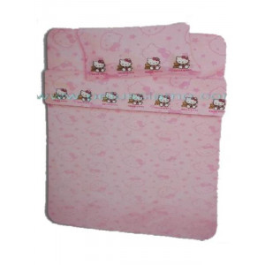 Completo letto singolo Hello Kitty Orsetto lenzuola e federa cartoni animati *04186