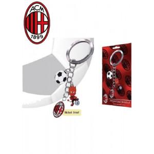 Portachiavi 3 pendenti Ac Milan accessori squadre calcio tifosi | pelusciamo.com