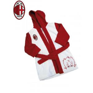 Accappatoio Spugna Bimbo bambino Ac Milan abbigliamento squadre | pelusciamo.com