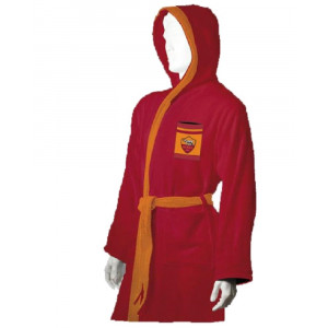 Accappatoio adulto in spugna prodotto ufficiale A.S. Roma Squadre calcio *19524 pelusciamo store