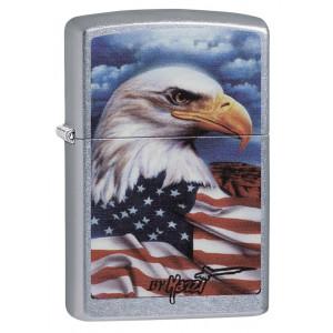 Accendino Zippo By Mazzi Eagle 24764  antivento made in the USA *03073
