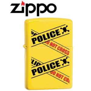 Accendino Zippo Police do not cross 28060 giallo *20365 pelusciamo store