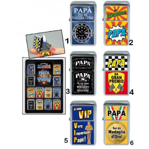 Accendino festa del papa vari modelli gadget idea regalo *02931 | pelusciamo.com