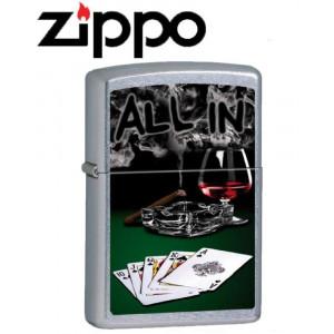 Accendino Zippo gambling All Inn Poker 12M075 *20341 pelusciamo store