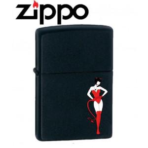 Accendino Zippo Devil woman su base nera *00549 pelusciamo store