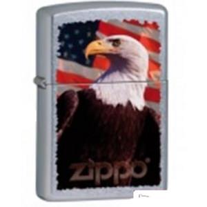 Zippo Eagle american flag aquila su bandiera americana *03302 PELUSCIAMO