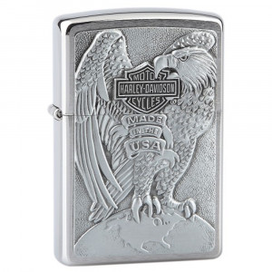 Zippo Harley Davidson Eagle On Globe Emblem - in rilievo *03297 PELUSCIAMO