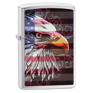 Accendino Zippo Aquila su bandiera americana eagle 20350 pelusciamo store