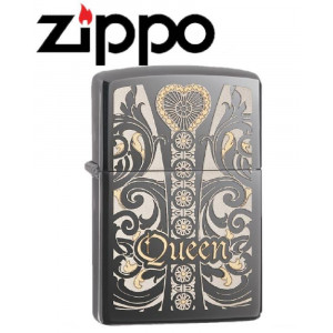 Accendino Zippo Queen venetian laser black  28797 *18983 pelusciamo store