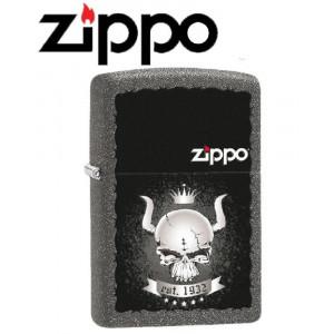 Accendino Zippo skull crown teschio 28660 *18919 pelusciamo store