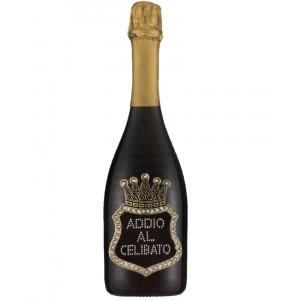Bottiglia Di Prosecco Extra Dry 0.75 ML. Personalizzata Addio Al Celibato PS 27270