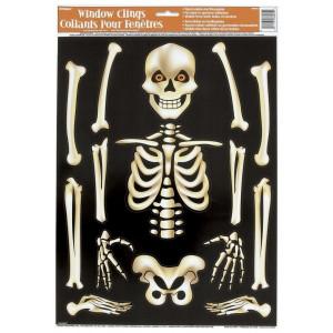 Decorazione casa Halloween vetrofanie scheletro *01081 | pelusciamo store