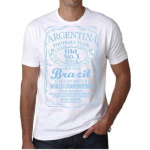 T-shirt Nazionale Argentina Maglietta Mondiali 2014 Brasile Brazil PS 18148