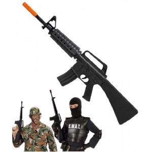 Arma Giocattolo Fucile Assalto M16, accessorio costume carnevale S.w.a.t.   pelusciamo store