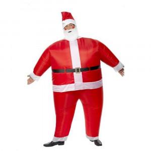Costume Adulto Natalizio, Babbo Natale Gonfiabile    pelusciamo.com