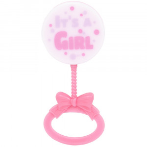 Set 4 Sonaglini Rosa , Baby Shower Bimba PS 20670 | Pelusciamo.com