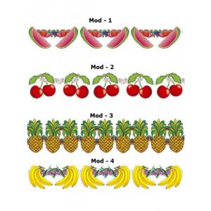 Ghirlanda Frutta 3 mt, Festone Banana, Ananas, Anguria o Ciliegia | pelusciamo.com