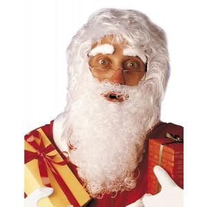 Accessorio Costume Babbo Natale Adulto, Set Parrucca e Barba   | pelusciamo.com