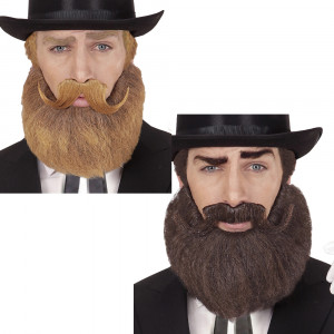 Barba e Baffi Mustacchi Accessori Carnevale  '700 '800  | Pelusciamo.com