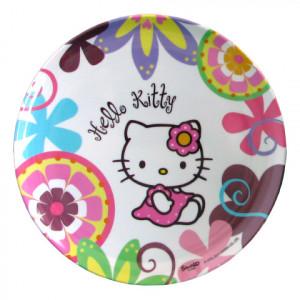 Piatto piano Hello Kitty Bamboo Sanrio Bbs  *15667