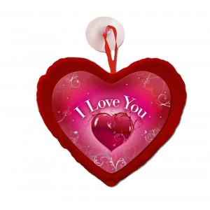 Cuore con Ventosa , Stampa  I Love You ,  15x10  cm  *04785  San Valentino | pelusciamo store